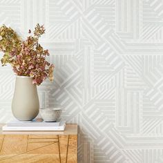 Our Wallshoppe Geo Bloc Print Removable Wallpaper features an art deco-inspired design in array of colors that let you express your personal style. Simple to install and easy to remove, Wallshoppe removable wallpaper is perfect for renters and ser… Mirrored Wallpaper, Office Wallpaper, Tile Wallpaper, Striped Wallpaper, Wallpaper Panels, Modern Wallpaper, Interior Wallpaper, Minimalist Wallpaper, Wallpaper Decor