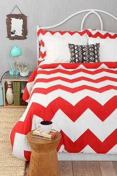 Zigzag Duvet Cover Online Only New Colors Available Available in comes in yellow or gray