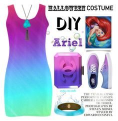 """""""DIY Halloween Costume: 13/10/16"""" by pinky-chocolatte ❤ liked on Polyvore featuring Disney, Chanel, Vans, Alexis Bittar and Panacea"""