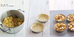 Tartaletas de compota de manzana. Receta