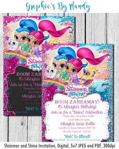 Shimmer and Shine Birthday Invitation!
