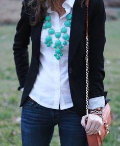 Blazer & white shirt