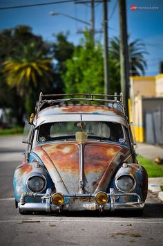 58 VW Bug - Nice showing its patina as my wife would say