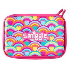 Smiggle Rainbows and Hearts Pencil Case Hardtop
