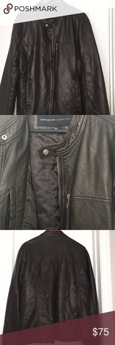 Men's Dark Brown Smooth Leather Jacket MARC NEW YORK Men's dark brown Jacket - Kingsbury Smooth Leather Jacket - Purchased from Neiman Marcus   - Excellent Condition - Stylish MARC New York Jackets & Coats
