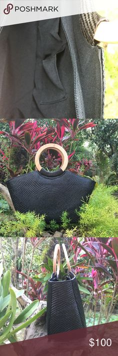 Black Buntal Round Handle Tote Handbag - Handmade Buntal tote.  Made in the 🇵🇭 - Round Wooden handle - Lined w/ 2 smart phone pockets - Silver hardware - Zipper closure   Ask ALL questions before buying, sales are final. I try to describe the items I sell as accurately as I can but if I missed something, please let me know FIRST so we can resolve it before you leave < 5🌟rating.   🚫TRADES/OFFLINE TRANSACTIONS/SPAM ✅Use OFFER BUTTON (Please consider the 20% PM fee) 🛍Bundle your likes 🚭…
