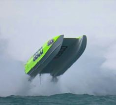 Geico USA champion offshore boat geeting plenty of air in rough water Fast Boats, Cool Boats, Speed Boats, Power Boats, Drag Boat Racing, Power Catamaran, Rib Boat, Sport Fishing Boats, Offshore Boats