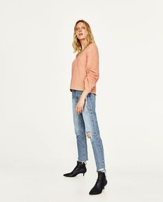 ZARA - WOMAN - TOP WITH GATHERED SLEEVES