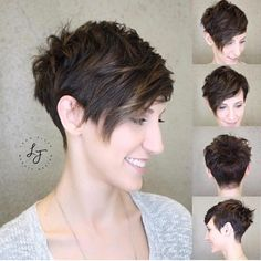 80 Best Pixie Cut Hairstyles - Trending Pixie cuts For Women 2019 Choppy, Angled Pixie----Perfect fo Short Pixie Haircuts, Pixie Hairstyles, Hairstyles With Bangs, Short Hair Cuts, Straight Hairstyles, Short Hair Styles, Pixie Bob, Trendy Haircuts, Best Pixie Cuts