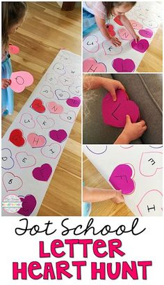 Get moving and learning with this letter scavenger hunt game. Perfect for learning letters and sounds in tot school, preschool, or the kindergarten classroom.