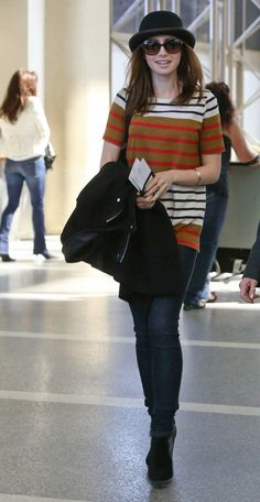 Lily Collins looking great while travelling