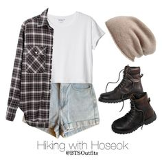 Hiking with Hoseok by btsoutfits on Polyvore featuring polyvore fashion style R13 Monki American Apparel American Eagle Outfitters Halogen clothing