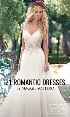 21 Best Of Romantic Wedding Dresses By Maggie Sottero ❤ All wedding dresses by Maggie Sottero are feminine, shining and seductive. See more: http://www.weddingforward.com/romantic-wedding-dresses-maggie-sottero/ #wedding #dresses Photo: Maggie Sottero https://www.maggiesottero.com