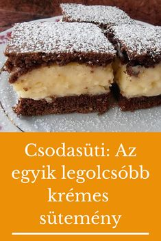 Hungarian Desserts, Hungarian Recipes, Sweet And Salty, Cakes And More, Oreo, Food Porn, Good Food, Dessert Recipes, Food And Drink