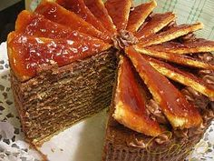 Dobos-cake recipe - A very delicious Serbian-Hungarian traditional cake served on the important family celebrations like weddings, Christmas, New Year, etc. Serbian Cake Recipe, Croatian Recipes, Hungarian Recipes, Dobos Torta Recipe, Hungarian Cuisine, Hungarian Food, Serbian Food, European Dishes, Pastries