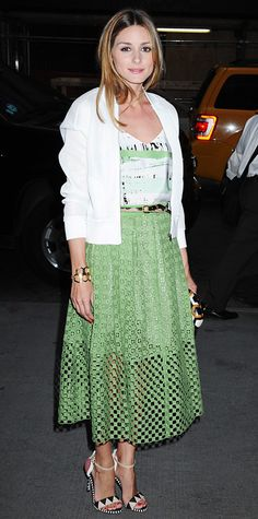 Look of the Day - June 17, 2014 - Olivia Palermo in Tibi from #InStyle