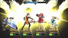 Kings Raid is a Android Free-to-play Action Role Playing Multiplayer Game featuring a team of 4 heroes each with 4 active skills and 1 passive skill