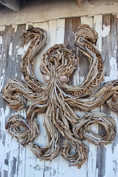 Elegant Handcrafted Driftwood Sculptures and Decorative Driftwood Hangings: Driftwood Octopus