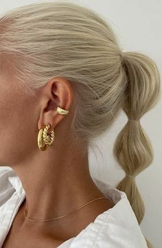Hair Inspo, Hair Inspiration, Lange Blonde, Aesthetic Hair, Gold Aesthetic, Cute Hairstyles, Classic Hairstyles, Blonde Hairstyles, Medium Hairstyles