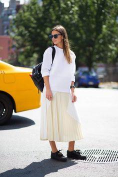 New York Fashion Week Spring 2015 Street Style - nyfw spring 2015 models street style (35)