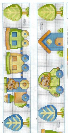This is adorable, and I see no reason why it couldn't be turned into an actual cross stitch Más Baby Cross Stitch Patterns, Cross Stitch For Kids, Cross Stitch Borders, Cross Stitch Baby, Cross Stitch Animals, Cross Stitch Charts, Cross Stitch Designs, Cross Stitching, Cross Stitch Embroidery