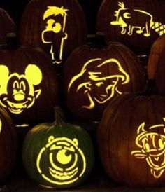 Disney Pumpkin Carving Templates Too bad there isn't a Hulk lol that's what Logan wants to carve  Have a Marvels pin?