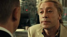 Javier Bardem as Silva in Skyfall. A bad guy that's so bad, you'd like him (if he wasn't so bad)...