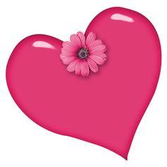pik heart with gerbera