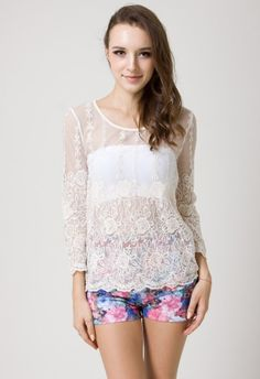 Romantic Flower Lace Top