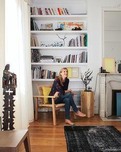 Amélie, Paris - Inside Closet [L] Living Room Kitchen, My Living Room, Home And Living, Living Spaces, Interior Design Courses, Home Interior Design, Room Deviders, Parisian Decor, Cafe Interior