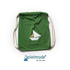 Grüner Rucksack mit Segelboot  Turnbeutel für von Spielmode auf Etsy