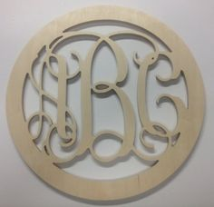 18 inch BORDER Vine connected wooden monogram by scrappinplus, $25.00