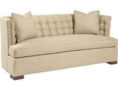 Forties glam meets Great lines and supreme comfort. Pearson sofa is covered in Sunbrella Canvas for ultimate durability. Large Furniture, Upholstered Furniture, Tufted Bench, Bench Seat, Dwell On Design, Cocktail Ottoman, World Of Interiors, Back Pillow, Discount Furniture