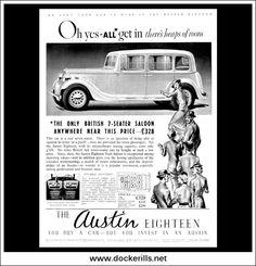 Austin '18' Eighteen. Original Vintage Advert From 1937 (Apr 21st)