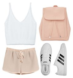 """""""Pink"""" by a33a3 ❤ liked on Polyvore featuring Zara, Mulberry, adidas and New Look"""