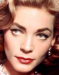 Lauren Bacall, I wish I had eyes like her! Beautiful....