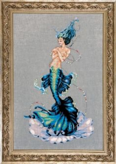 Aphrodite Mermaid Counted Cross Stitch Pattern, by Nora Corbett, Mirabilia Designs, WI by GriffithGardens on Etsy