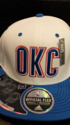 """Oklahoma City Thunder NBA Adidas """"On Court"""" Flex Fitted Hat New With Tags"""