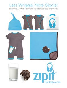 Milk and Cookies anyone? http://www.zipitbaby.com/collections/rompers/products/charlie