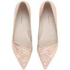 Sophia Webster Women 10mm Bibi Metallic Leather Flats ($445) ❤ liked on Polyvore featuring shoes, flats, gold, flat shoes, leather flats, pointy-toe flats, metallic flats and pointed toe shoes