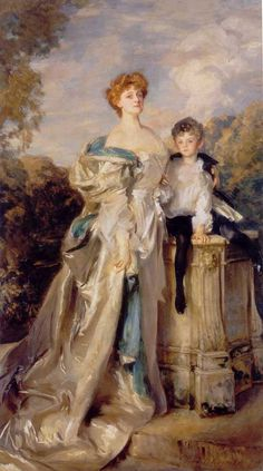 he Countess of Warwick (Daisy Greville) And Her Son. Boy On A Hobby Horse. Marian (Madge) Roller.