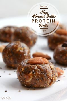 Almond Butter Chia Protein Balls - Otherwise Known as Awesome Balls