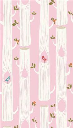 Tree Stripe Pink - CIRCA 52 from Birch Fabrics Woven Quilters Organic Cotton Poplin (5208.52.00.90)