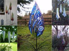 Katie Green Mosaic Sculptor Katie Green Mosaic Glass Sculptor from THE Gardening… – Modern Design - Modern Mosaic Garden Art, Glass Garden Art, Mosaic Art, Mosaic Glass, Stained Glass Designs, Stained Glass Projects, Fused Glass Art, Stained Glass Art, Katie Green