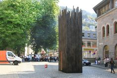 Bergen, Norway Safehouse, Earnest Studio for Urban Folly. Use of burnt wood.