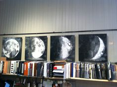 Moon phases, set of 4 prints