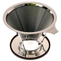 Stainless Steel Pour Over Coffee Filter - Permanent and Reusable Coffee Maker - Paperless Dripper with Stand - Washable Ultra Fine Mesh Cone >>> You can find more details at http://www.amazon.com/gp/product/B01DJVRFNG/?tag=pincoffee-20&prw=070716150940