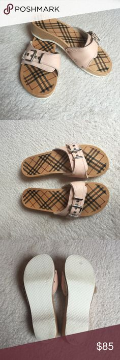 100% Authentic Burberry Wooden sandals 🌺Perfect Condition, practically new worn once or twice. Make and offer 😊 Burberry Shoes Sandals