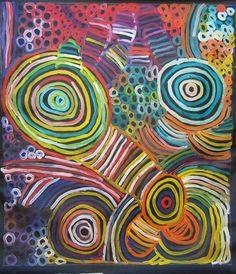 Minnie Pwerle ~ Awelye, Women's Ceremony Aboriginal Painting, Aboriginal Artists, Blue Horse, Textiles, Painted Leaves, Posca, Australian Art, Indigenous Art, Traditional Art