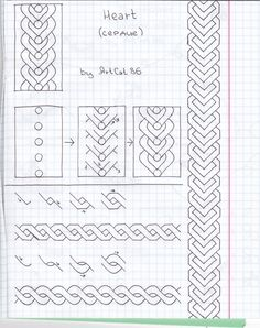 31 new Ideas for drawing easy doodles step by step zentangle patterns Graph Paper Drawings, Graph Paper Art, Zentangle Drawings, Doodles Zentangles, Doodle Drawings, Tangle Doodle, Tangle Art, Zen Doodle, Doodle Art